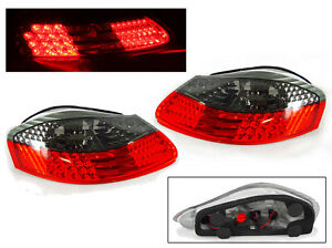 Euro Red Smoke Led Tail Light Lamp Pair For 97 04 Porsche Boxster 986 Roadster
