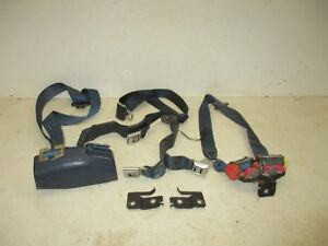 73 87 Chevy Gmc Pickup Truck Blue Front Bench Seat Belts Retractor Buckles
