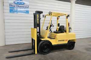 2004 Hyster H60xm 6 000 Pneumatic Tire Forklift 3 Stage Sideshift Lpg Yale