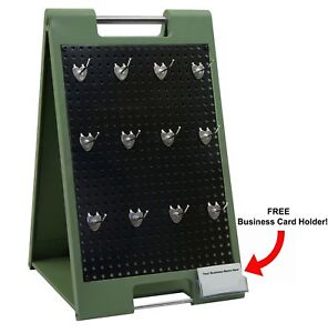 Two sided Peg Board Counter Top Display With Hangers Retail Hanger Trade Show