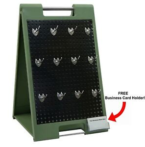 Counter Top Peg Board Display With Hangers Retail Hanger Trade Show