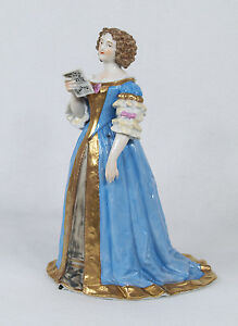 Antique French Sevres Porcelain Figure Of Madame De Lavalli Re