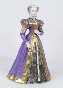 Antique French Sevres Porcelain Figure Of Mary Stuart Mary I Queen Of Scots