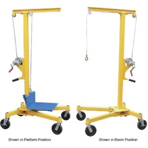 New Portable Worksite Crane Lifter 2 500 Lb Capacity