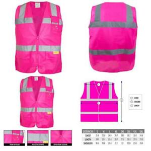 Rk Safety Pk0430 Ansi isea Class 2 Certified Female Safety Vest Pink Medium