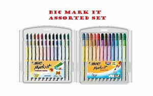Bic Mark it Permanent Markers Fine Point And Ultra Fine Point Assorted Co