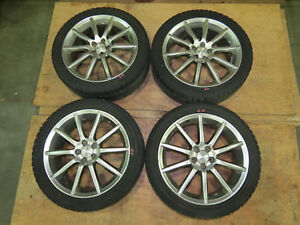 Jdm Subaru Forester Sg5 Impreza Wrx 5x100 Wheels 18x7 55 Rims Only Gd Sg