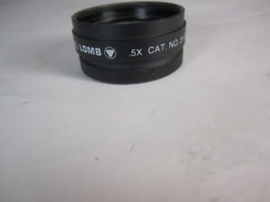 Leica bausch Lomb 0 5x Auxiliary Lens For Stereo Zoom Sz4 And Sz6 Microscope