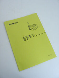 Topcon Instruction Manual Remote Control System4 Rc 4