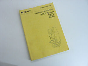 Topcon Instruction Manual Electronic Total Station Gts 310 Series