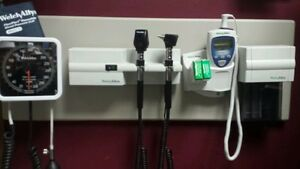Welch Allyn 767 Wall Board Otoscope Ophahlmoscope Thermometer Blood Pressure