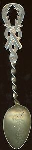 Torches Springfield Sterling Silver Spoon Antique Je901