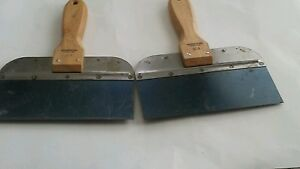 Lot Of 2 Armor Flex K 8 Usa Made Heavy Blade Drywall Taping Knife Wood Handle