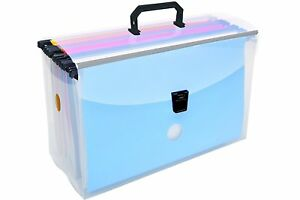 Dello Filing Briefcase With 10 Assorted Color Hanging Folders