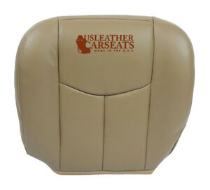 2003 04 2005 Chevy Work Truck Driver Bottom Synthetic Leather Seat Cover Tan