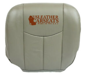 2005 Chevy Work Truck Driver Bottom Synthetic Leather Seat Cover Gray