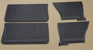 1967 Chevelle Malibu Supersport Pui Front Rear Door Panel Set Black D230 D230c