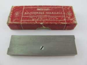 Starrett No 154d Adjustable Parallels Mint In Box Machinist No Owner Marks 3 5