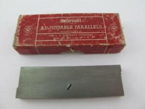 Starrett No 154c Adjustable Parallels Mint In Box Machinist No Owner Marks 2 3 4