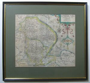 Lincolnshire Antique Map By Saxton Kip 1607 1637 Edition