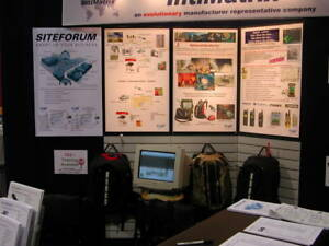 Nimlok 10 Trade Show Modular Booth With Backlit Sign And Light Boxes