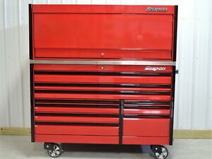 Snap On 68 Candy Apple Red Epiq Tool Box Stainless Steel Top Hutch