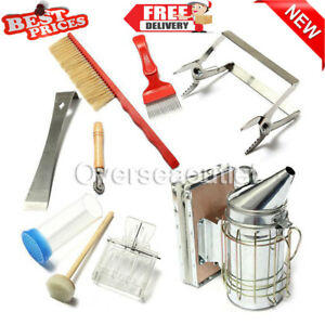 8pcs Beekeeping Equipment Tool Bee Hive Smoker Queen Catcher Beehive