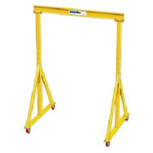 New 3 Ton spanco portable Steel Gantry Crane 11 6 Span adj Hgt5 2 7 10