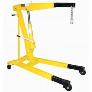 New Vestil Floor Crane With Telescopic Boom 6000 Lb Capacity
