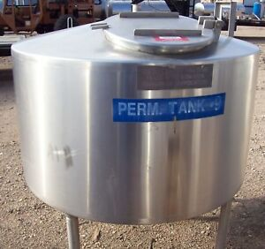 300 Gallon Storage Only Stainless Steel Cone Bottom Tank