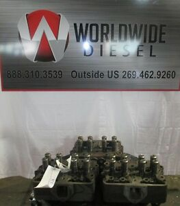 Cummins N14 Diesel Engine Cylinder Head Set Of 3 Casting 3078360 reman
