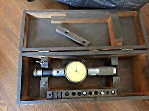 Standard Dial Bore Gage No 2 In Wooden Case