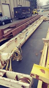 37 Centers Dwight Foote 3 Ton Overhead Bridge Crane 68 Of Runway W busbar