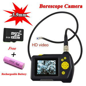 Hd Inspection Camera 3 9 Mm Borescope Endoscope Scope Zoom 360 Rotate free T1