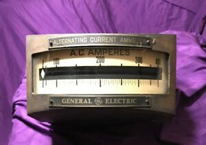 Vintage Ge General Electric alternating Current Kilovolts Meter type H Read