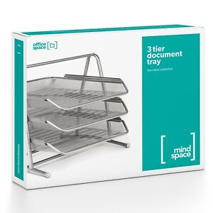Durable Mindspace 3 Tier Desk Tray Office Organizer The Mesh C