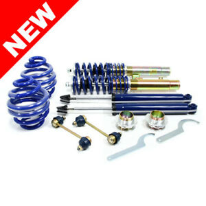 Rsk Coilover Set Adjustable Suspension Lowering Shock Kit 98 06 Bmw E46 3 Series