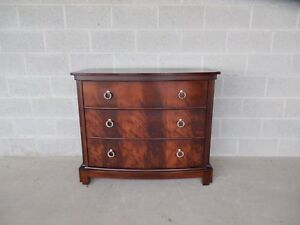 Stanley Furniture Co Bow Front Chippendale Style Figured Mahogany Chest 42 W