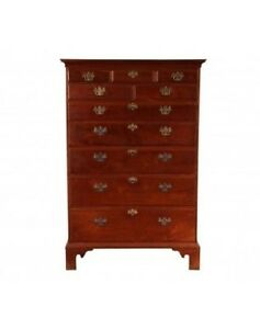 Antique Federal Mid Atlantic States Tall Chest Of Drawers 46191