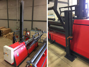 6 10 X 1 4 Hydraulic 4 roll Plate Roll With Supports