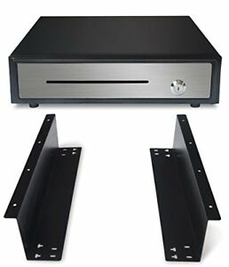 16 Heavy Duty Black push Open Cash Drawer 5b5c With Under Counter Mounting