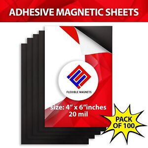 Flexible Adhesive Magnetic Sheets Peel And Stick 4x6 Inches Perfect For Photos