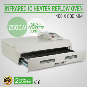 T962c Infrared Ic Heater Reflow Oven Soldering Machine 2500w 400x600mm Warranty