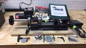 Sherline Model 4000 Mini Lathe With Threading Cutting Attachment Made In The Usa