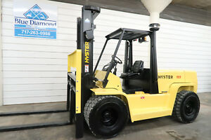 Hyster H155xl 15 500 Diesel Pneumatic Tire Forklift Sideshift Gdp155 Yale