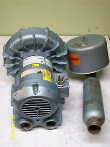 Gast Regenair Blower R4310a 2 With Emerson 1 Hp 3 Phase Motor P55bfd 543