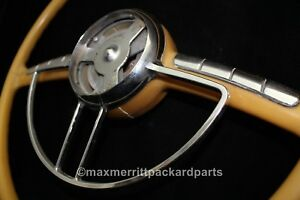 1948 54 Packard Steering Wheel W Horn Ring Nice