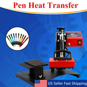 6pc Digital Pen Heat Press Machine For Ball point Transfer Printing 110v Us Plug