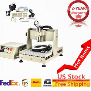 800w 4 Axis Usb Vfd Spindle Cnc Router Engraver Drilling Mill Cut Machine New