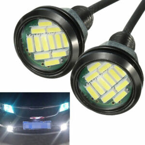 New White Lamp Waterproof Car Light Daylight Daytime Running Led Drl Fog Driving